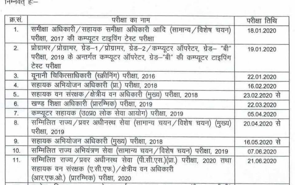 UPPSC Calendar 2020 released,check important exam dates here
