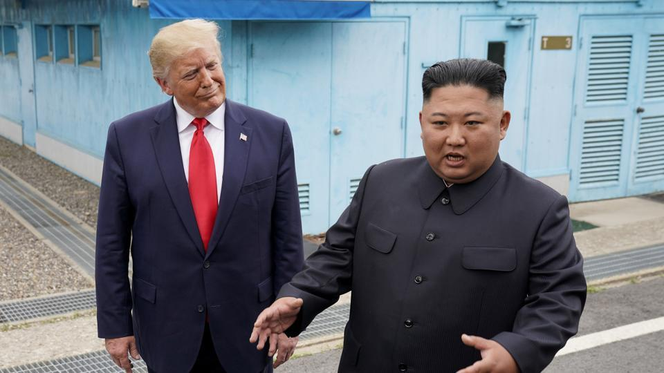 U.S. President Donald Trump meets with North Korean leader Kim Jong Un in June 2019.