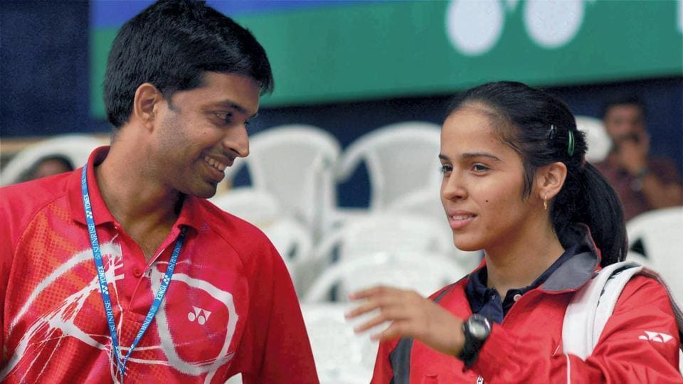 File image of Saina Nehwal with Pullela Gopichand.