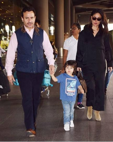 Saif looked dapper, Taimur looked adorable, but it was Kareena, who looked like a million bucks, literally. She wore a matching black pyjama-style co-ord set with olive green boots, her sunnies and a gorgeous Hermès Birkin bag. (INSTAGRAM)
