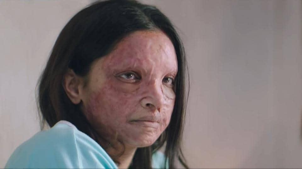 Deepika Padukone plays an acid attack victim in Chhapaak.