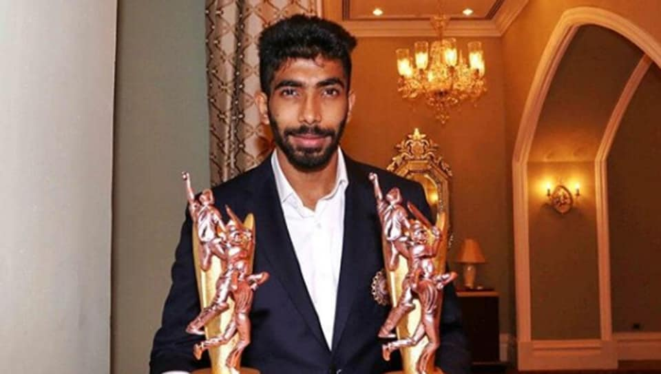 Jasprit Bumrah with his trophies