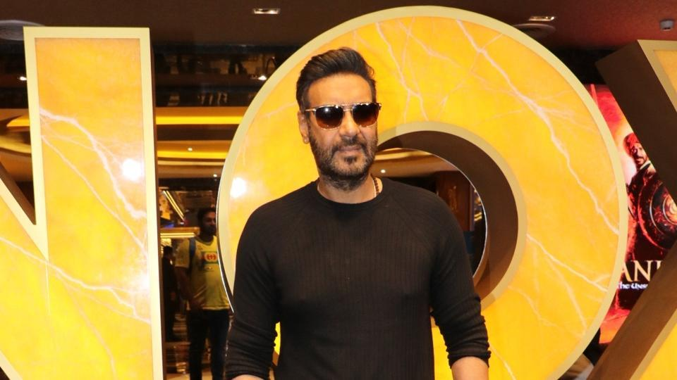 Actor Ajay Devgn during a special screening of his film Tanhaji: The Unsung Warrior.
