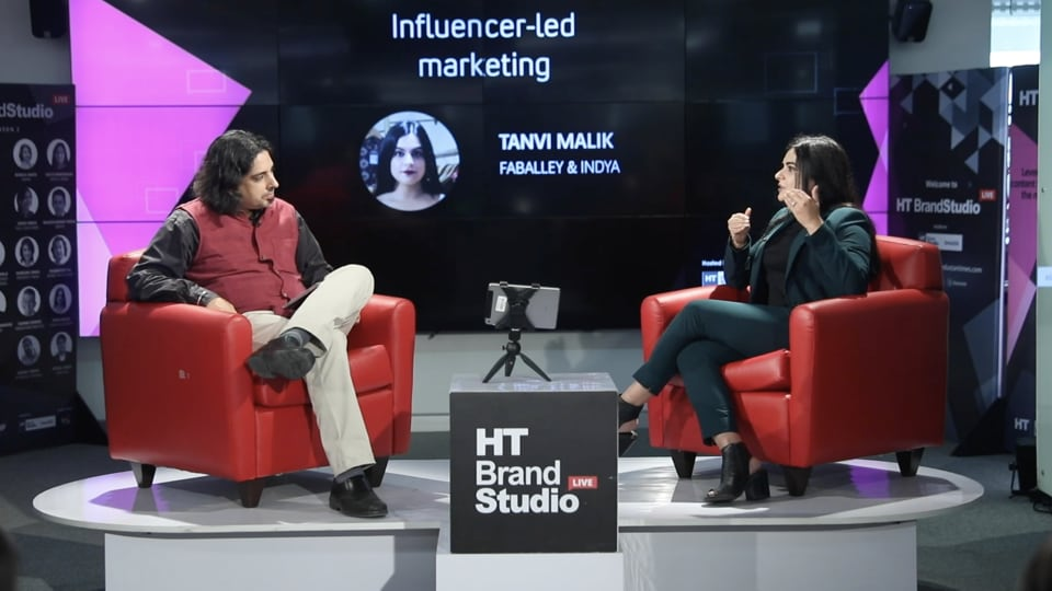 Tanvi Malik of FabAlley interacts with Rameet Arora of HT in Episode 11 of HT Brand Studio Live, Season 2.