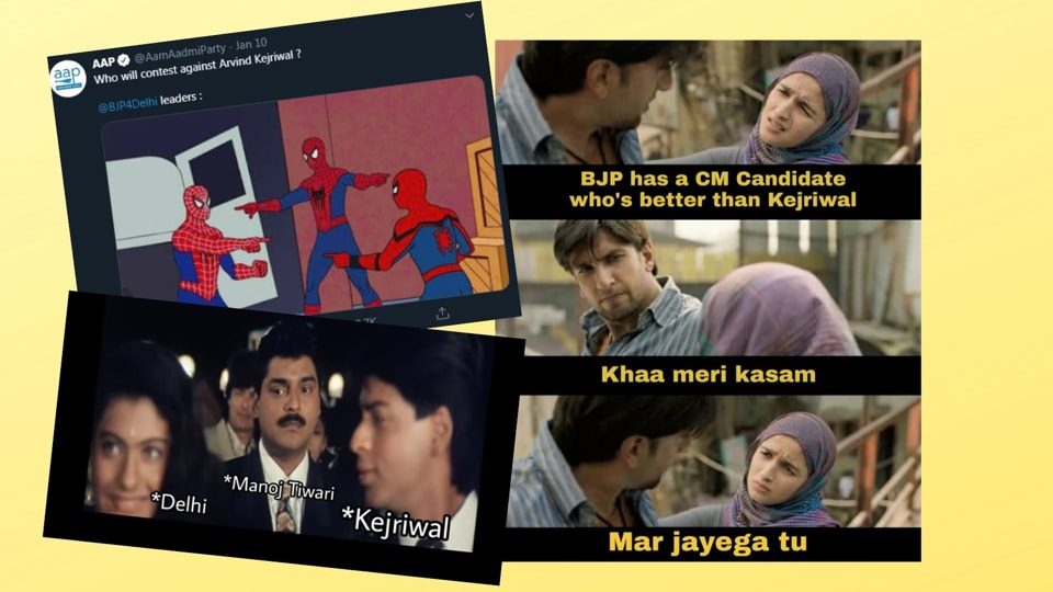 Delhi Elections 2020 Parties Up Their Meme Game To Attract
