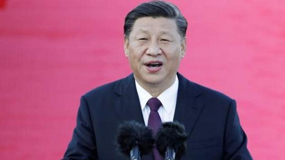 Chinese President Xi Jinping speaks at Macau International Airport, China, December 18, 2019