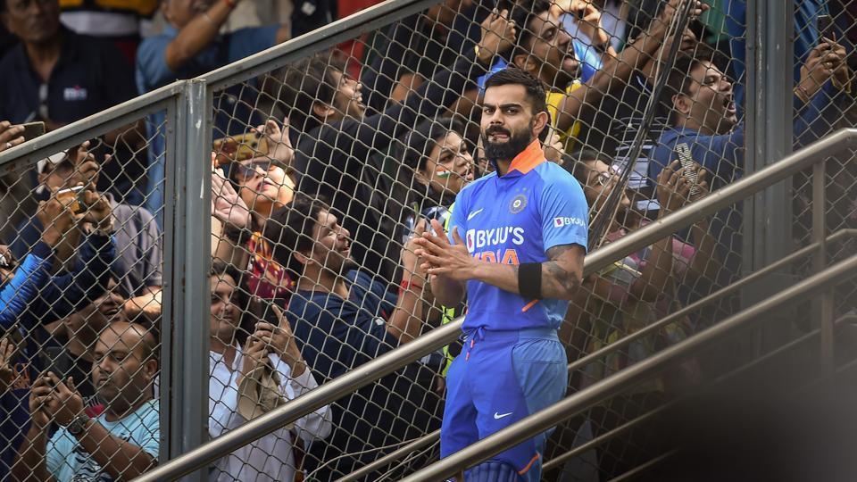 Indian captain Virat Kohli during the first one day international (ODI) cricket match.