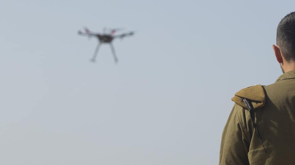 A drone from Pakistan was spotted at Indo-Pak border in Punjab's Ferozepur on Monday night.