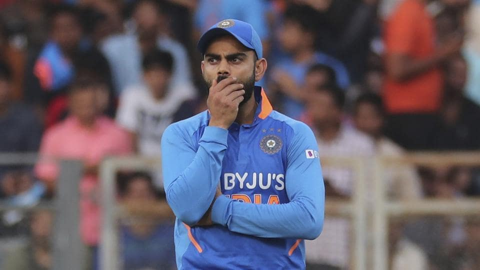 India's captain Virat Kohli during the first one-day international.