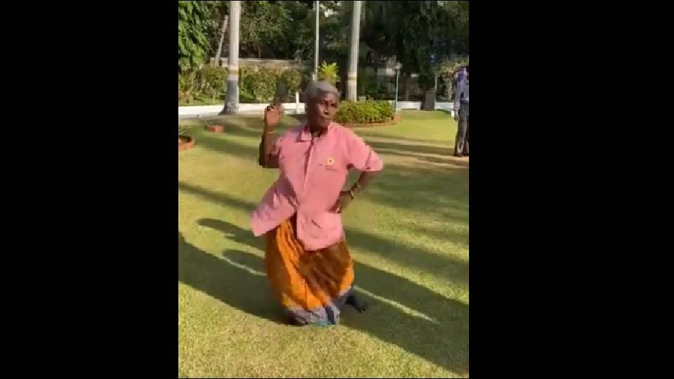 A video of an elderly woman swaying to a tune during Pongal celebrations, while a crowd cheers her on has taken social media by storm.