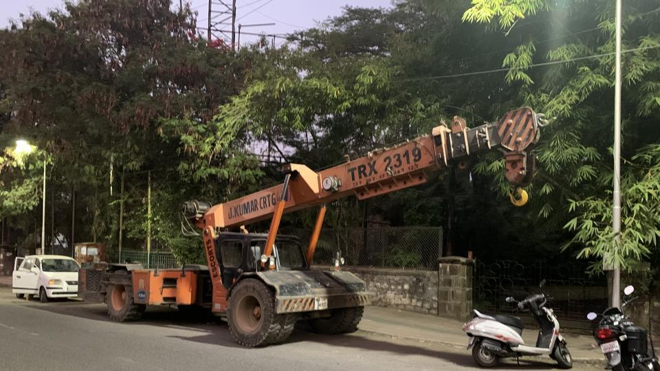 The crane had finished its work for the day at a construction site of Pune metro and was heading out when it ran over the victim on scooter on Bundgarden road Tuesday morning, according to the police.