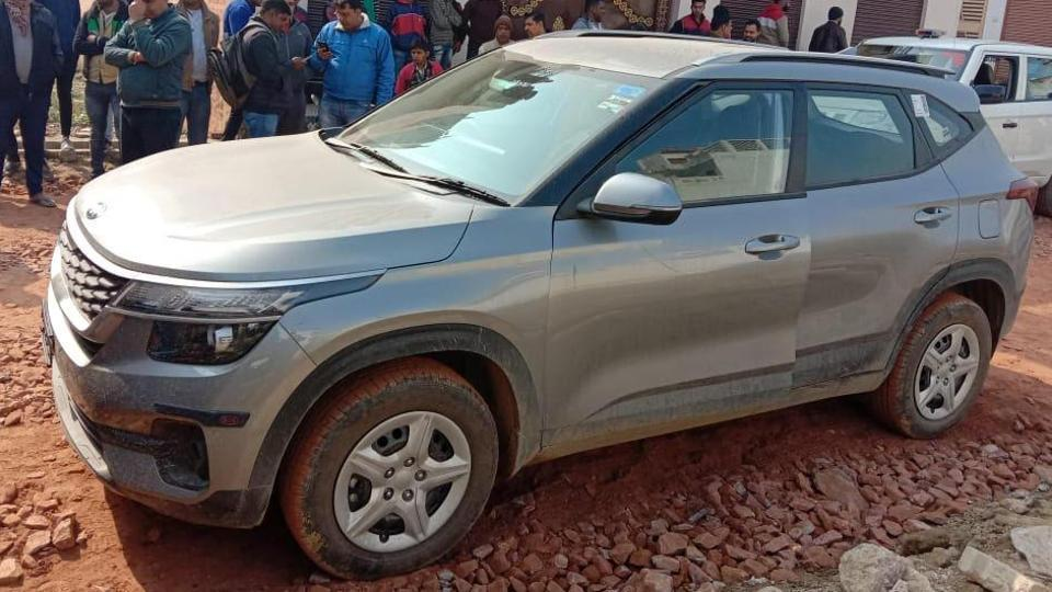 The car, Kia Seltos SUV, was found abandoned at a locality in Ghaziabad.