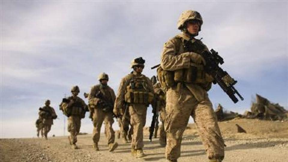 A file photo of US troops deployed in Syria