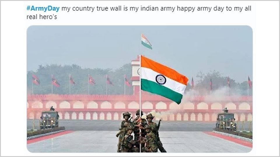 Indian Army Day is celebrated each year on January 15.
