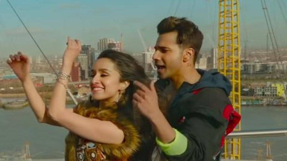 Shraddha Kapoor and Varun Dhawan in a still from Street Dancer 3D song, Lagdi Lahore Di.