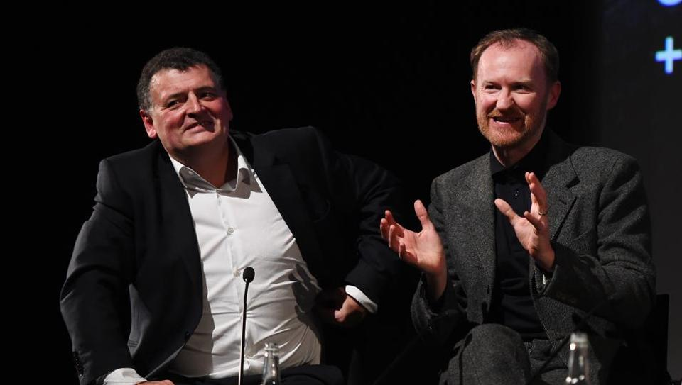 Steven Moffat (left) and Mark Gatiss met at a party in the late 1990s and quickly became friends. They have worked together on Doctor Who, Sherlock and now Dracula, which is currently streaming on Netflix.