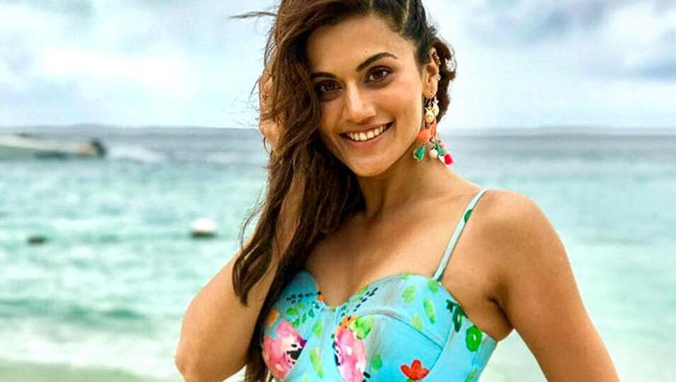 Taapsee Pannu on the sets of Judwaa 2.