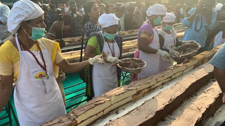 About 1,500 bakers and chefs came together to prepare it.