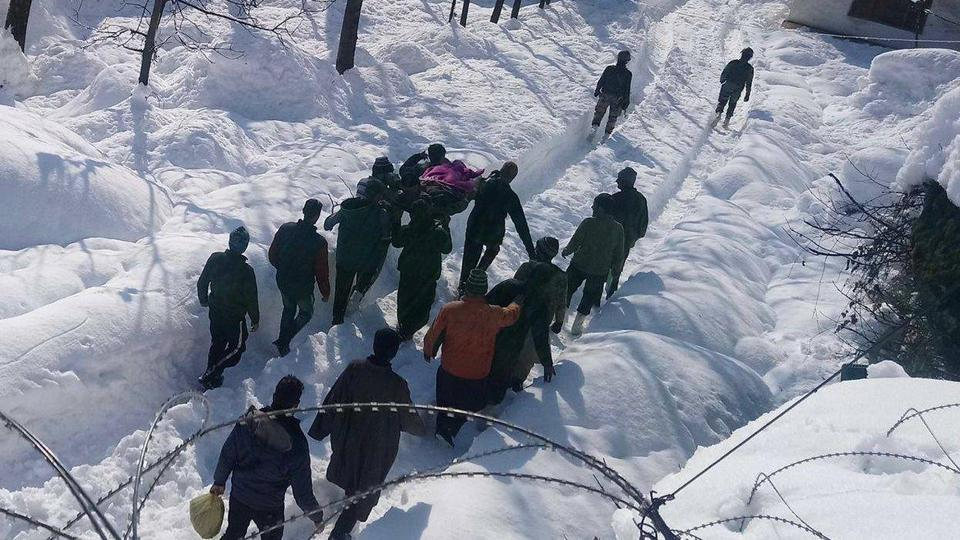 The Indian Army's XV Corps unit on Tuesday rescued a civilian trapped under snow in Jammu and Kashmir's Srinagar.