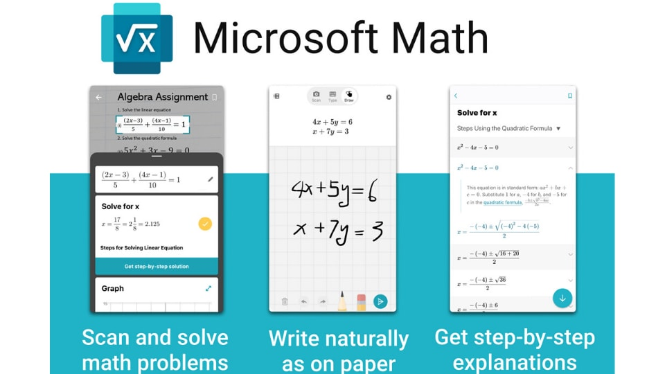 The software giant has developed a Math Solver app, which is currently in beta, that claims to have solutions for all mathematical expressions – be it basic equations or more complex integrations.