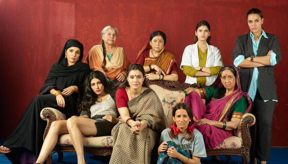 Kajol with her co-stars in Devi.