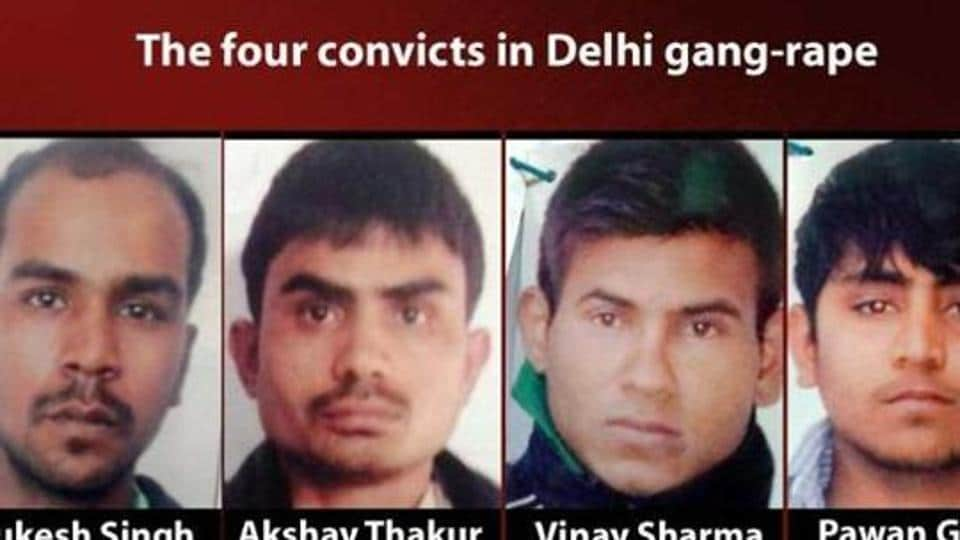 A combo picture of the four men convicted in the December 16 Delhi gang-rape case.