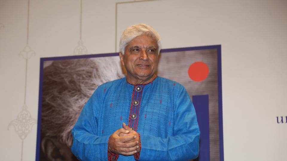 Poet, lyricist and screenwriter Javed Akhtar during an exhibition dedicated to him at Nehru Centre Art Gallery, Mumbai. It has been curated by photojournalist Pradeep Chandra and film historian SMM Ausaja. The exhibition is called The World of Javed Akhtar.