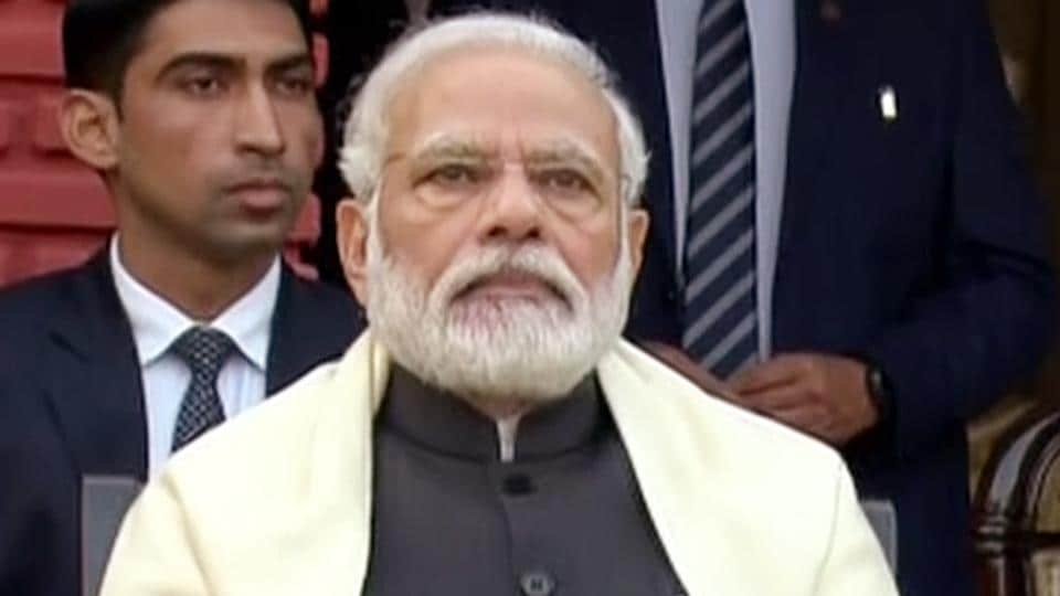 New Delhi, Jan 15 (ANI): Prime Minister Narendra Modi attending the At Home Reception at General Manoj Mukund Naravane's residence on the occasion of Army Day, in New Delhi on Wednesday. (ANI Photo)