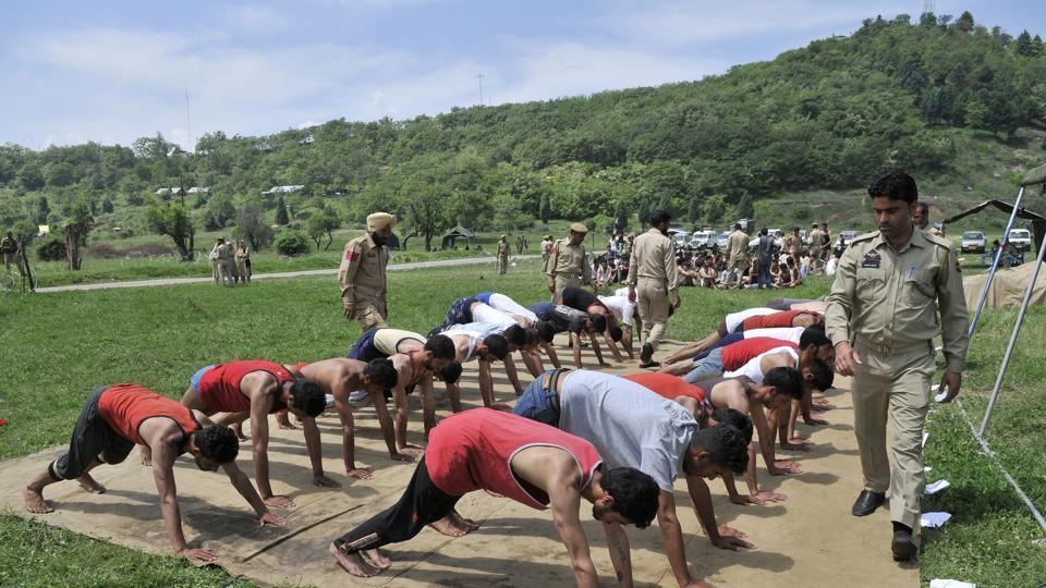 Youth Participating and undergoing physical endurance test