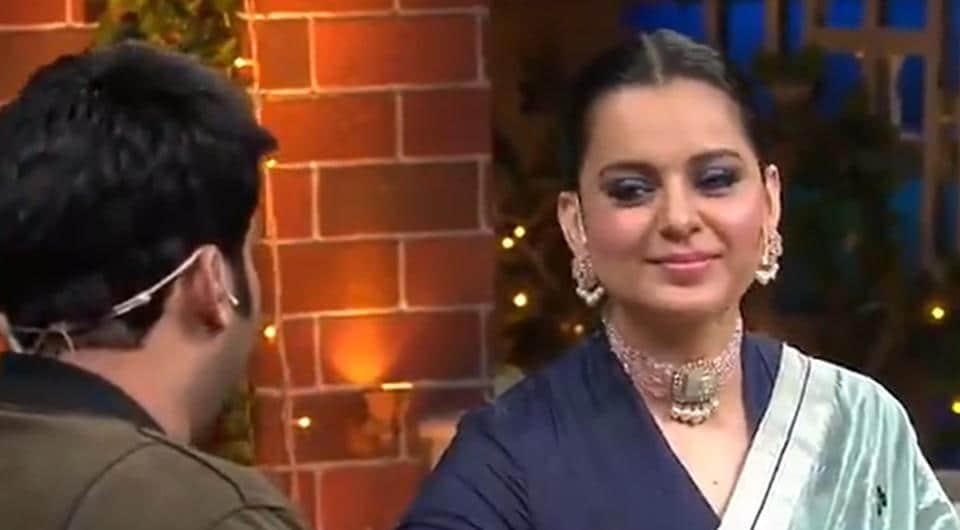 Kangana Ranaut onThe KapilSharma Show.