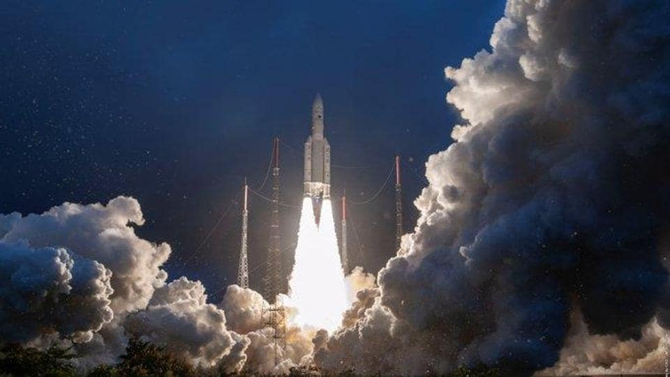 GSAT-30, the Indian Space Research Organisation's (Isro) first mission of the year, blasted off onboard Arianespace's Ariane 5 launch vehicle at 2:35am.