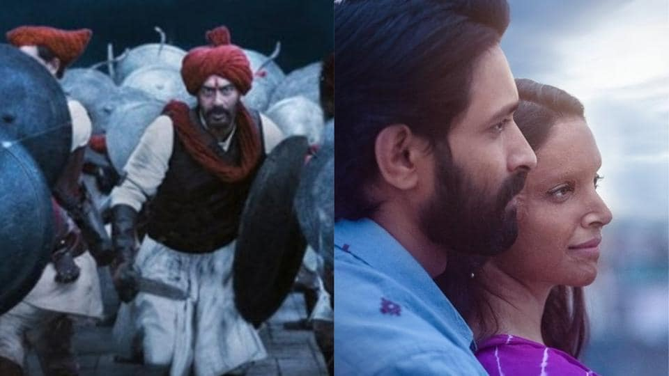 Tanhaji vs Chhapaak box office: Ajay Devgn's film is now aiming the Rs 150 cr mark while Deepika Padukone starrer is at Rs 28.38 cr.