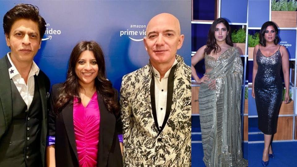 Shah Rukh Khan joins Jeff Bezos at blue carpet event, confesses he doesn't shop for 'underwear online'....