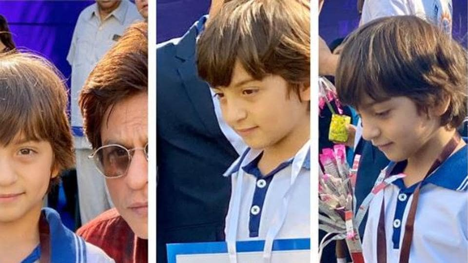 ShahRukh Khan spends day at the races as his little 'gold medal' AbRam emerges winner. See pic - bollywood - Hindustan Times