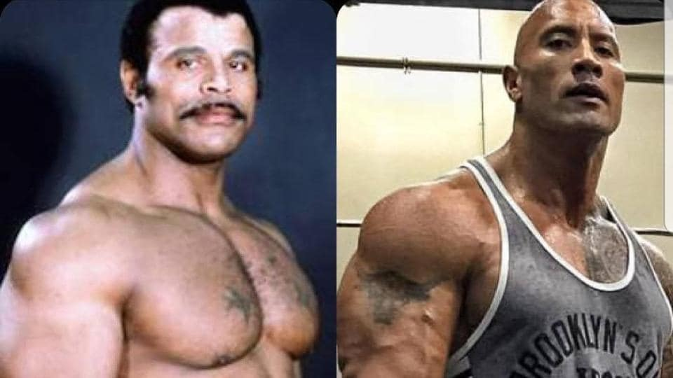 Rocky Johnson and his son, Dwayne 'The Rock' Johnson.