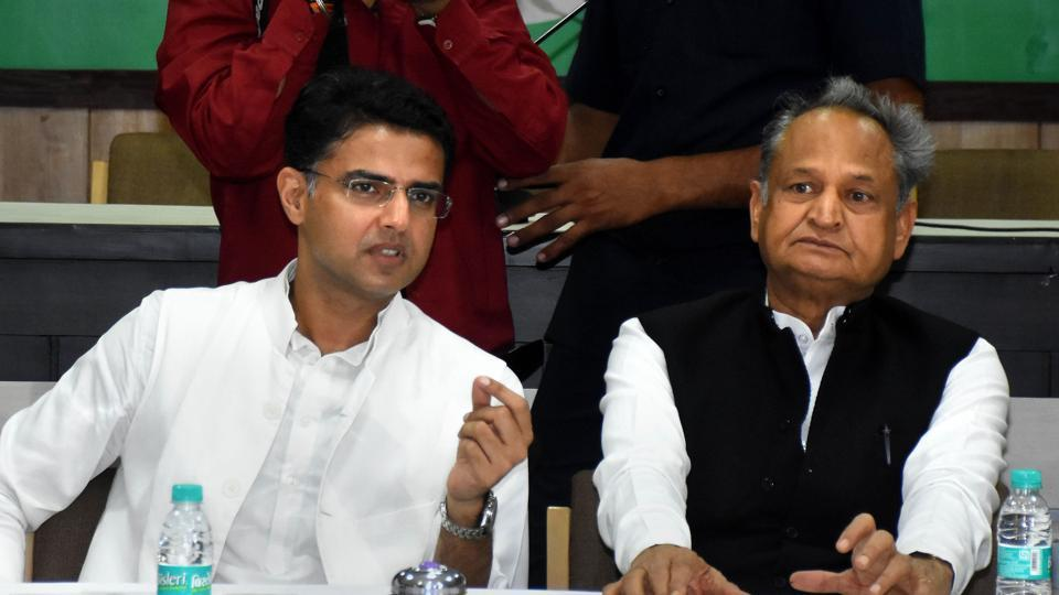 Rajasthan Chief Minister Ashok Gehlot with Deputy Chief Minister Sachin Pilot. Both Gehlot and Pilot have said on public forums that there's no problem between the two of them almost the same number of times that they have targeted each other.