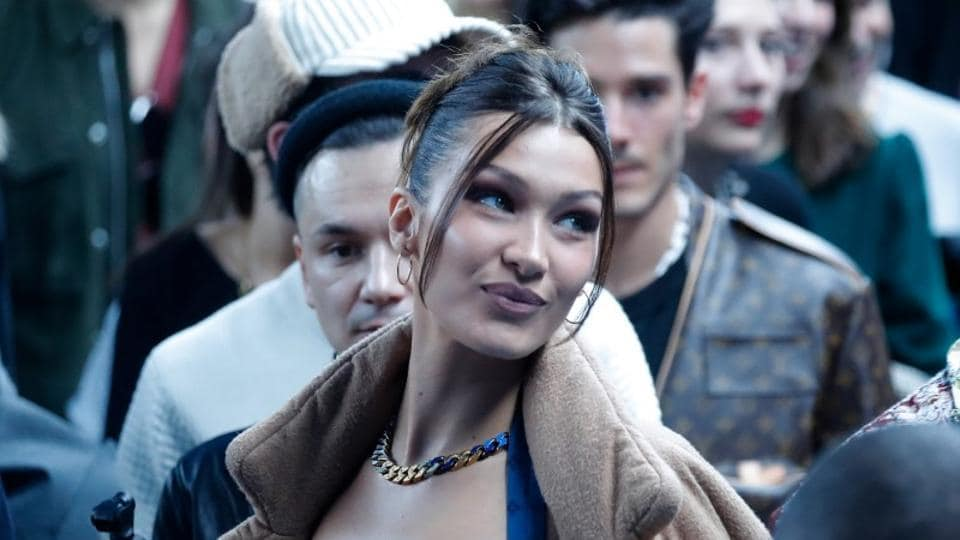 Model Bella Hadid attends the Fall/Winter 2020 collection show for fashion house Louis Vuitton.
