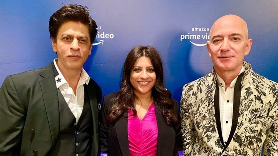 Shah Rukh Khan tells Jeff Bezos he is humble only because his 'last few films did not work well'. Watch...