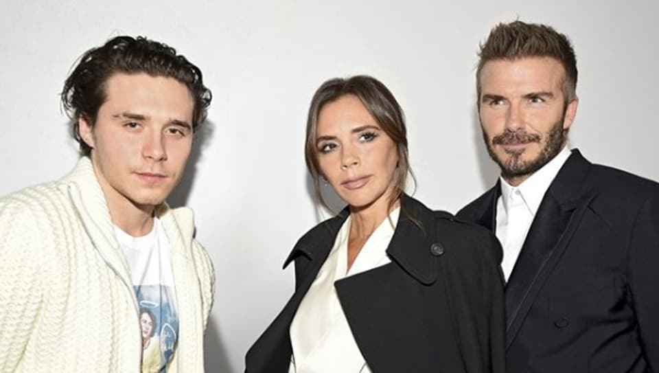 The Beckhams  at the Dior 2020 menswear show.
