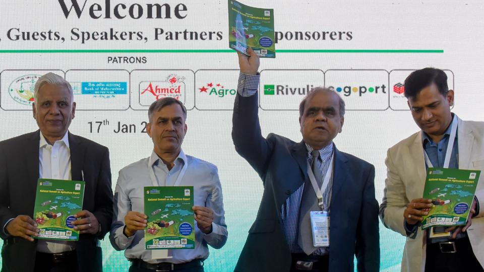 Dignitaries at a national summit here in Pune at the Mahratta Chamber of Commerce, Industries and Agriculture (MCCIA) on Friday.