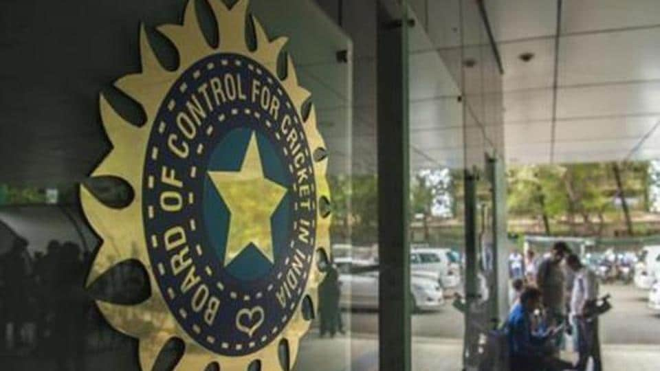 A view of logo of the Board of Control for Cricket in India.