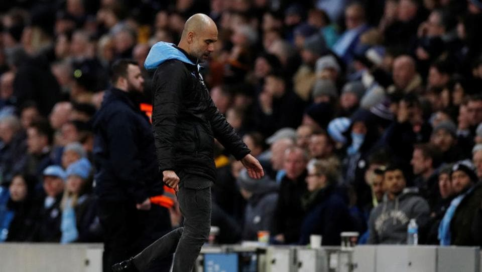 Guardiola's birthday ruined as Palace snatch point, Spurs' top-four bid dented - football - Hindustan Times