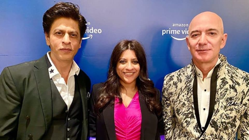Shah Rukh Khan had earlier shared a photo with Jeff Bezos and Zoya Akhtar.