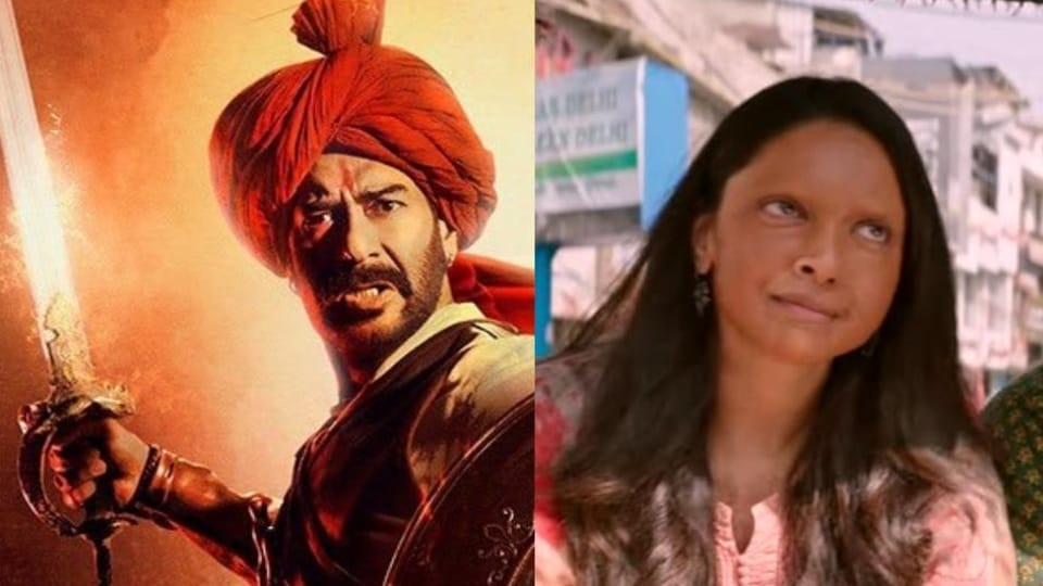 Tanhaji vs Chhapaak box office day 9: Ajay Devgn film is galloping towards Rs 200 crore club.