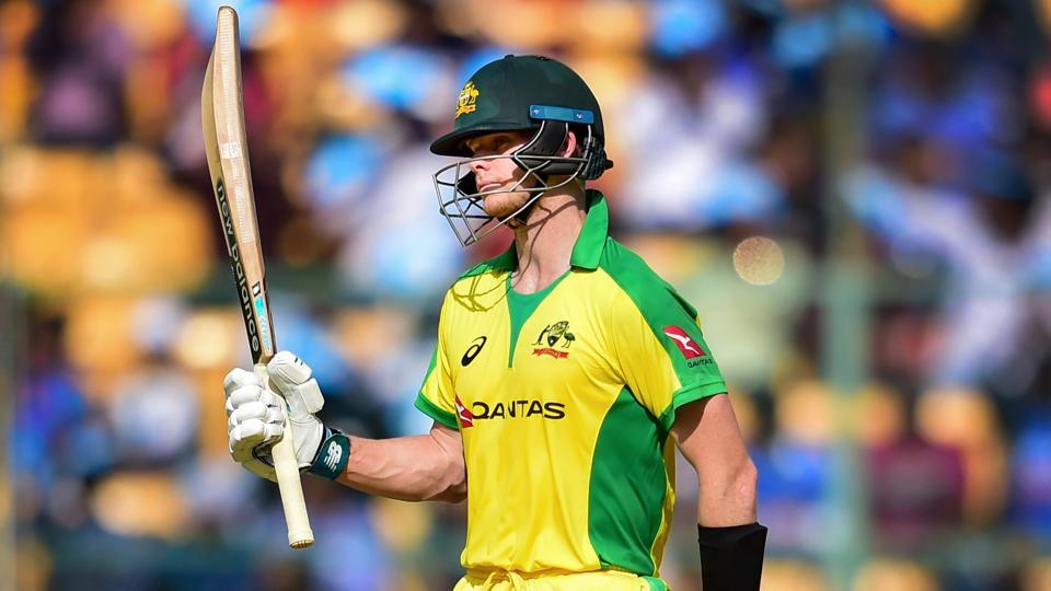 Australia's Steve Smith celebrates his fifty. (PTI)