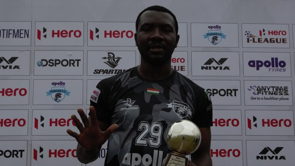 Dipanda Dicka celebrates after putting in a man of the match performance.
