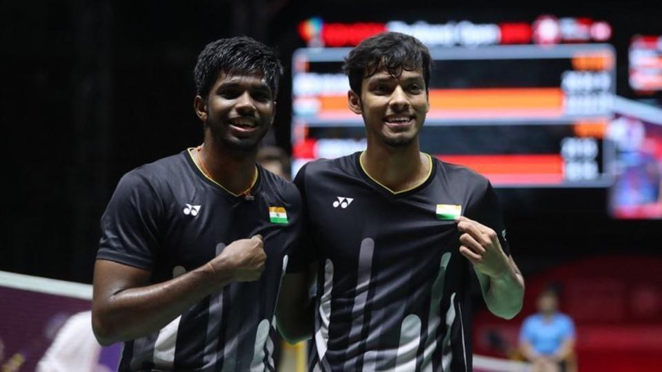 Satwiksairaj (L) with doubles partner Chirag Shetty