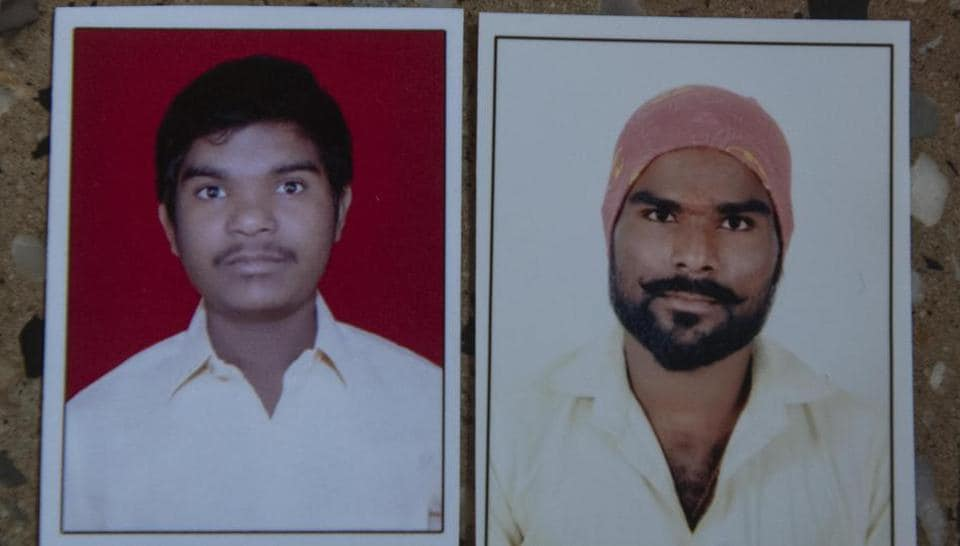 Sagar Karandekar (right)  and Raju Karandekar (left)  were electrocuted to death when the roller ladder that they was using came in contact with a live overhead supply wire just after they had finished fitting street lights in Rajiv Gandhi IT park in Hinjewadi on December 30, 2019.