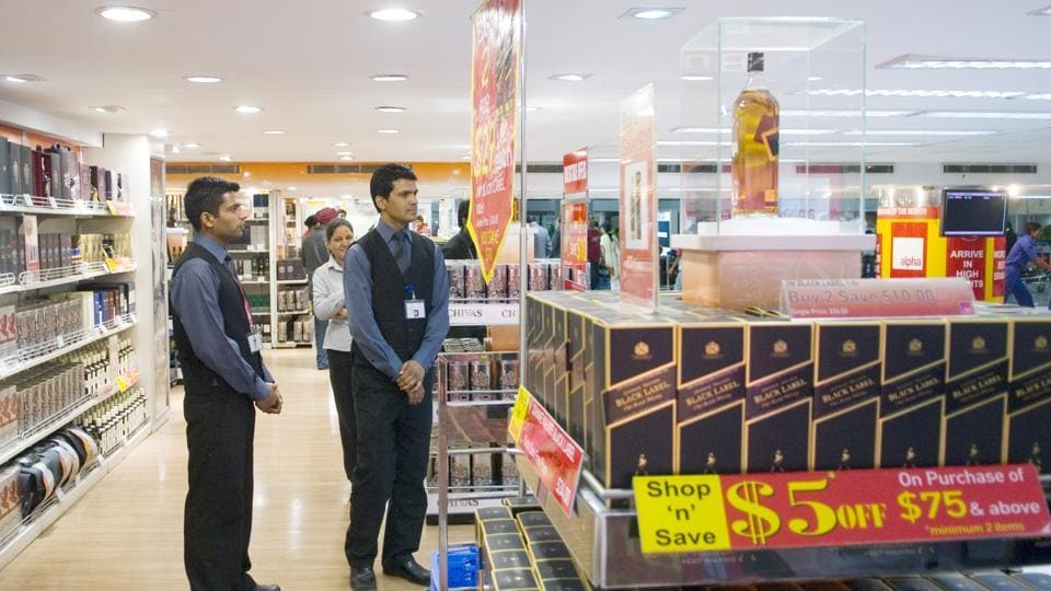 The duty-free shops located at airports and passengers can purchase goods worth about Rs 50,000 without paying any import duty.