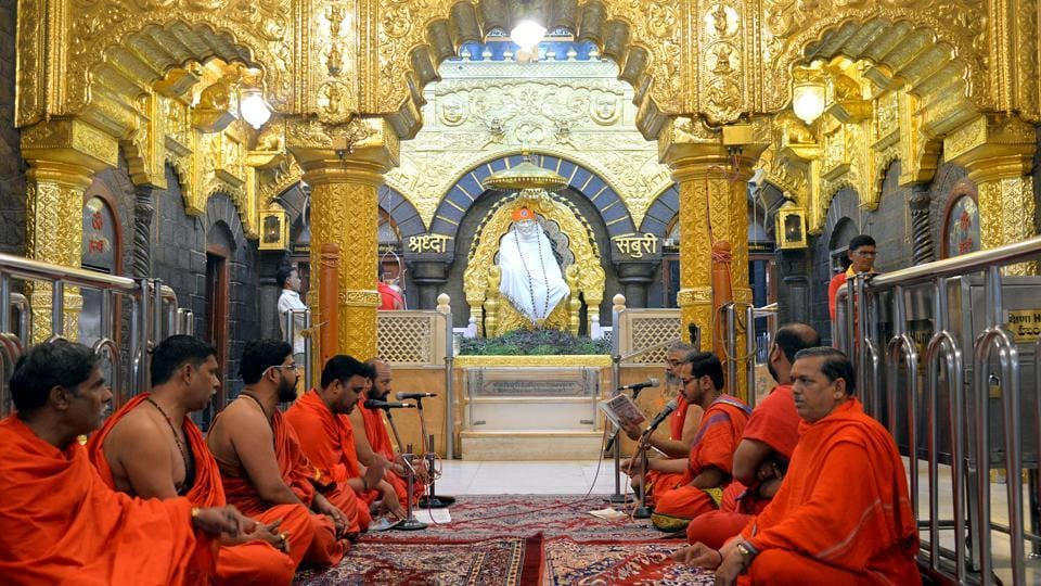 A view of the Sai Baba temple in Shirdi.